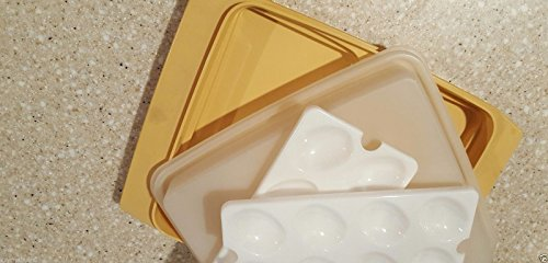 Tupperware Vintage Gold Deviled Egg Tray