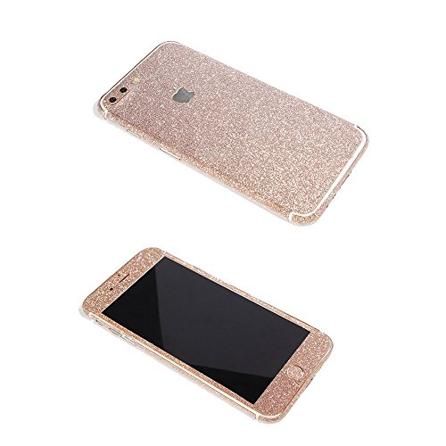 iPhone 7 Plus Bling Skin Sticker, Supstar Full Body Coverage Glitter Vinyl Decal - Dustproof, Anti-Scratch for Apple iPhone 7 Plus (Champagne - Decals Case Iphone