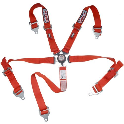 G-Force 7460RD Red 5-Point Junior Racer Camlock Harness Set
