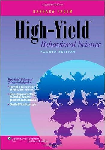 Kết quả hình ảnh cho High-Yield Behavioral Science