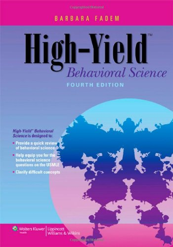High-Yield Behavioral Science (High-Yield  Series)