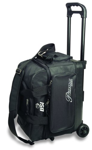 BSI Prestige Series Double Ball Roller Bag (Black/Silver