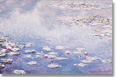 ((24x36) Claude Monet (Water Lilies in blue) Art Print Poster)