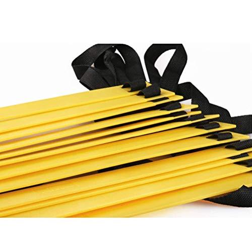 PROSPO 18-Rung 8 Meter Agility Ladder for Speed, Soccer, Football, Fitness, Legwork Training – Soccer. Boxing, Basgetball, Tennis (Yellow & Black) Price & Reviews