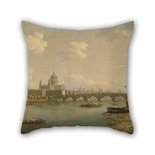 slimmingpiggy-16-x-16-inches-40-by-40-cm-oil-painting-william-marlow-st-pauls-and-blackfriars-bridge