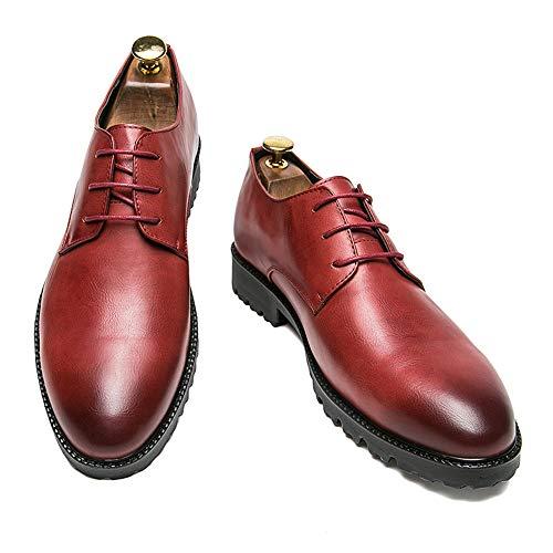 38 EU Semplice Dimensione da stile Estate Color Business Nero britannico Rosso shoes formali 2018 Oxford Primavera uomo Nuovo Scarpe stile Fang Casual classico qP1Rwq