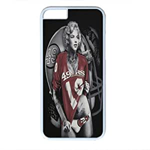 Marilyn Monroe With San Francisco 59ers Jersey Hard Plastic Case for Iphone 6 - PC White