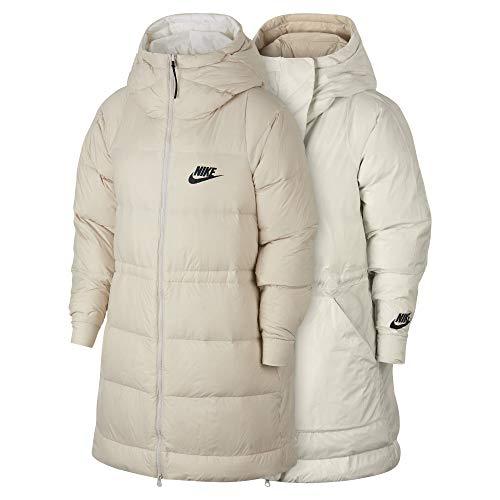 (Nike Women's Sportswear Reversible Down Fill Jacket Phantom/Igloo/Black Size M)