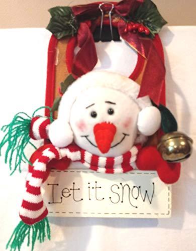 Christmas Snowman Door Hanger, 9.5