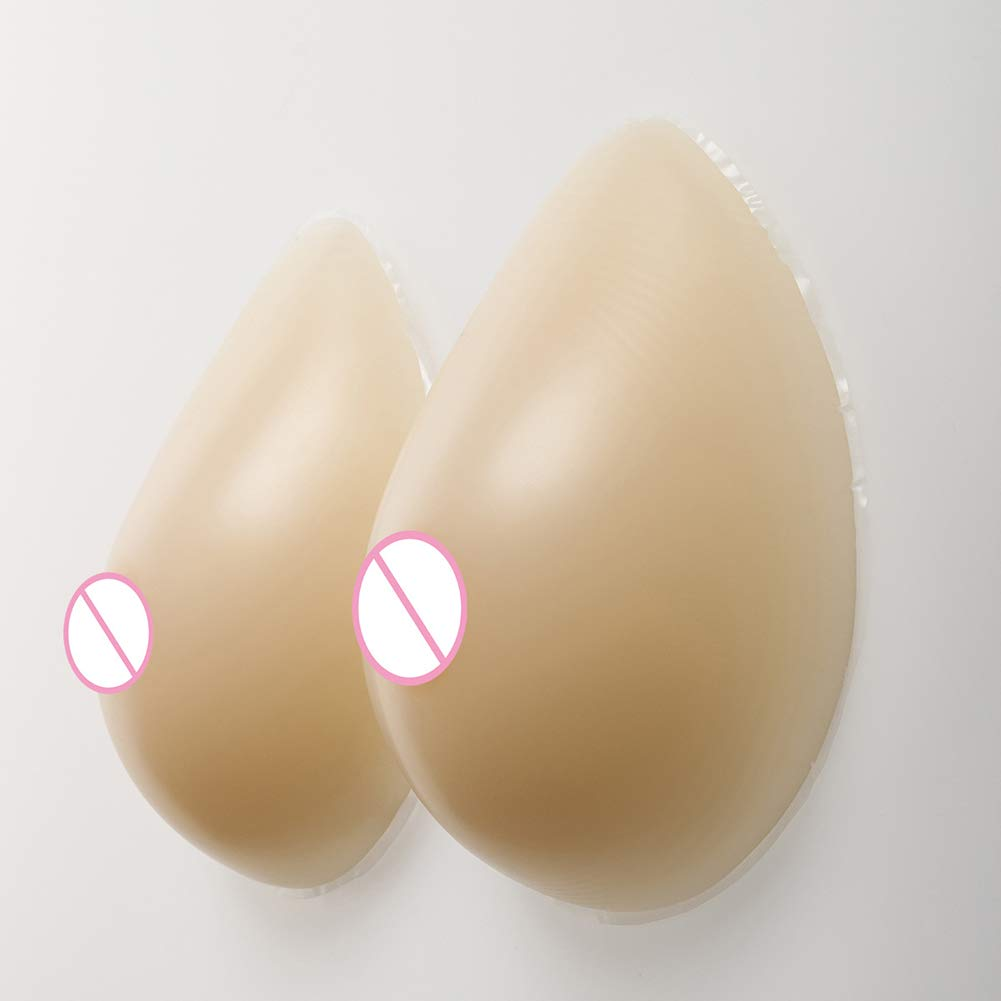 Love of Life Silicone Breast Forms Natural Small Nipples Realistic Feel Waterdrop Shaped Women Mastectomy Breast Enhancer Chest Pads Crossdressers Cosplay,700g/Pair/6x5x2Inch