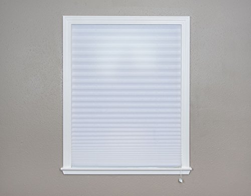 (Original Corded Lift Light Filtering Pleated Fabric Shade White, 36