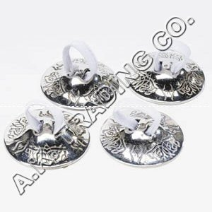 Belly Dancing Accessories - Finger Zills or Cymbals 2 Pair/4pcs SILVER by AK TRADING