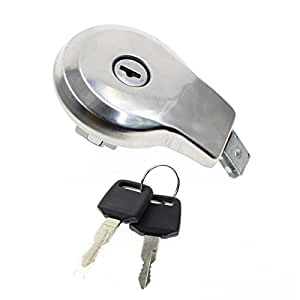 GooDeal Fuel Gas Tank Cap Cover with Keys fit Yamaha Maxim XJ XS 400 550 650 700 750 1100