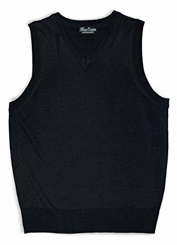 Blue Ocean Boys Solid Color Sweater (Black Sweater Vest For Boys)