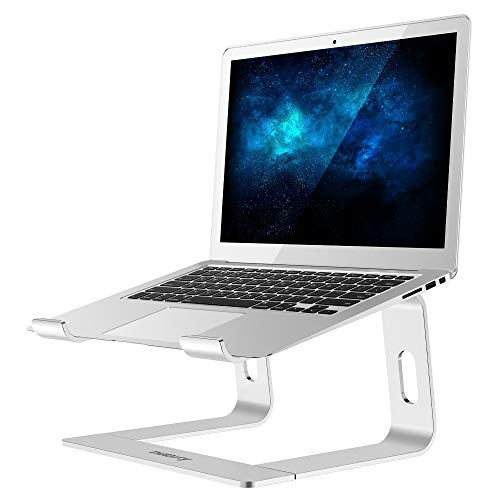 Nulaxy Laptop Stand, Ergonomic Aluminum Laptop Computer Stand, Detachable Laptop Riser Notebook Holder Stand Compatible with MacBook Air Pro, Dell XPS, HP, Lenovo More 10-15.6″ Laptops (B- Silver)