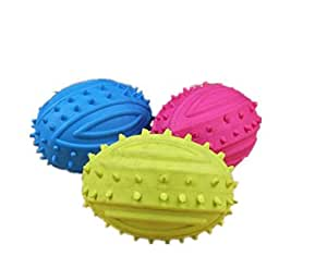 Pet Supplies : OUUD Crasy Shop Elastic Spike Dog Chew Toy