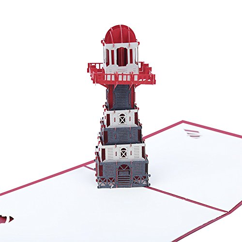 3D Pop Up Congratulations Greeting Card for Most Occasions , The Lighthouse