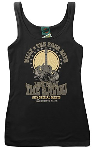 Clearwater Vest - Creedence Clearwater Revival Inspired Willy & The Poor Boys, Women's Vest, Small, Black