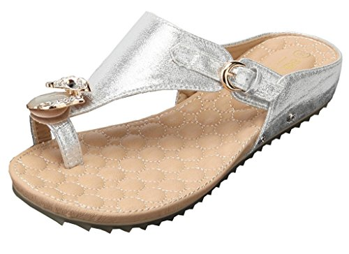 Artificiel Shoes Plat Ageemi Flip Décorations Femmes Diamant Argenteul10 Sandales Flops dCxhsrtQ