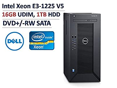 2017 Newest Flagship Dell PowerEdge T30 Business Mini Tower Server System - Intel Quad-Core Xeon E3-1225 v5 8M Cache, 16GB UDIMM RAM, 1TB HDD, DVD+/-RW, HDMI, No Operating System - Black