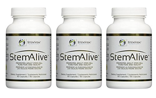 3 x Bottle 90 Caps. STEM ALIVE **AUTHENTIC ** MADE in the USA** Natural Supplement for the Proliferation and Release of Stem Cells by Stem Alive