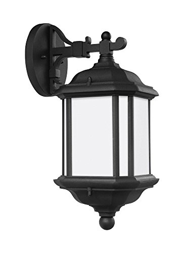 Sea Gull Lighting 84530BLE-12 Kent 1-Light Outdoor Wall Lantern in Black