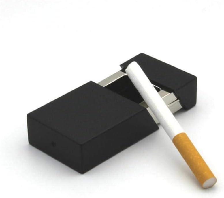 EPISKEYER Cenicero Creativo portátil Cenicero móvil al Aire Libre con Tapa Llavero Bolsillo Auto Aschenbecher Mini Cigarrillo Almacenamiento de Botellas de Metal, B