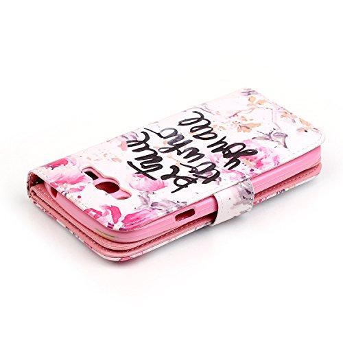 Para Smartphone Samsung Galaxy Grand Neo i9060funda Flip cover funda piel [Tarjetero] funda piel cartera Executive Diseño + Polvo Conector blanco 10 1