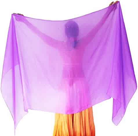 ef367b6a8 Nahari Silks Womens 100% Silk Belly Dance Veil Shawls Wraps Solid Colors