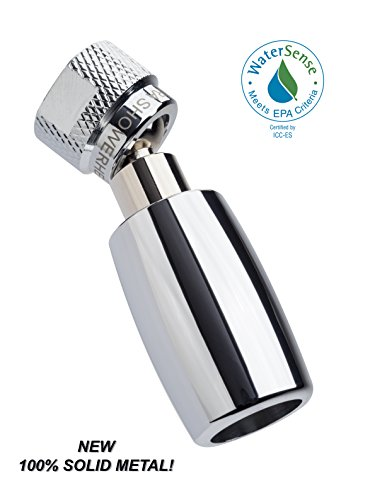 High Sierra's All Metal WaterSense Certified 1.8 GPM High Efficiency Low Flow Showerhead. Available in: CHROME, Brushed Nickel, Oil Rubbed Bronze, or Polished Brass by High Sierra Showerheads