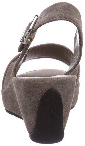 Högl 9-103252-6900 Damen Slingback Sandalen mit Keilabsatz Beige (6900)