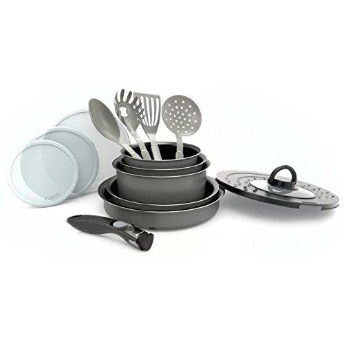 Akku-Küche 14Pieces + abnehmbarer Griff grau