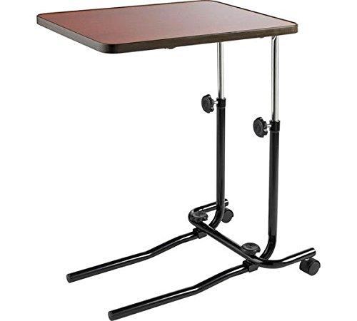 Acuario Más de cama mesa, lectura comer escrito en la cama o silla, altura ajustable 53 cm - 82 cm (21 - 32