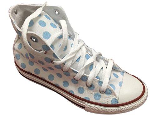 sneakers Pois da Stefano Natussi Bianche uomo multicolore Celesti Con 5ZwZOnv0x