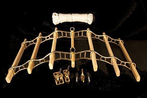 Laiton 0.7M Cottage Maid  Chalet Demoiselle 7 Latte De Luxe (Chrome, cuivre ou Bronze) POULIE Séchoir avec pin Lattes - Bronze, 2.2 m