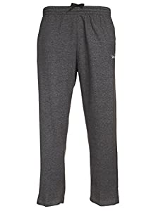 Spalding Mens Open Bottom Comfort & Performance Athletic Fleece Pant Blk Hthr Large(35
