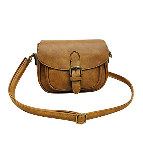 Crossbody Brown Brown Women Women Messenger Satchel Shoulder Leather Fashion Handbag Tote Bag Bag 7Zawdq