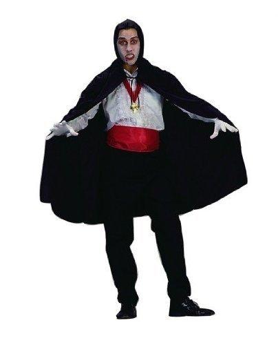 RG Costumes 45 Nylon Taffeta Hooded Cape, One Size, Black by RG Costumes