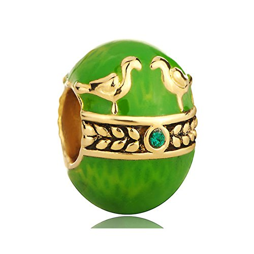 LovelyJewelry Faberge Egg Charms Perdot Green Color for sale  Delivered anywhere in USA
