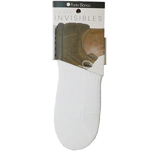 Punto Blanco - Calcetín INVISIBLE UNISEX algodón talla XL 44-48 - BLANCO, XG