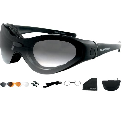 Bobster Rukus Photochromic Sunglasses,Black Frame//Smoke Lens,One Size