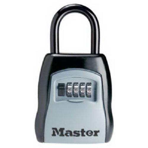 Master Lock Lock Box, Set Your Own Combination Portable Key Safe, 3-1/4 in. Wide, (5 Door Locker)