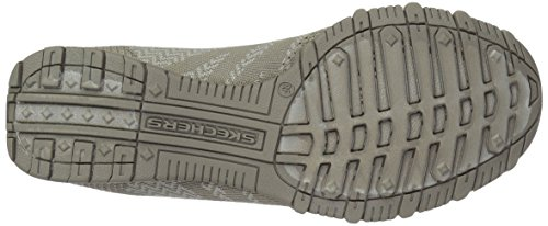 Synthétique Mocassin Bikers Knit Taupe Happens Skechers qwxF74fBg