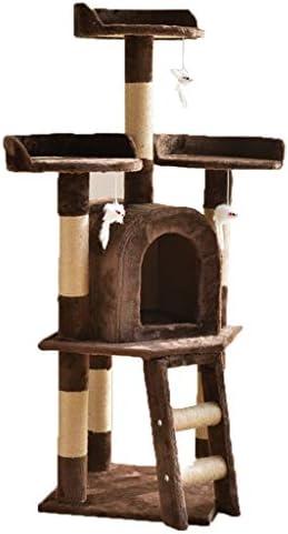 猫の木とタワー、猫アパート多層猫登山猫活動センター面白いおもちゃマウス (Color : Brown)