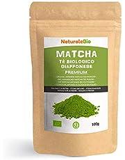 Biologische Matcha Thee in poeder [PREMIUMKWALITEIT] 100 gram. Bio Japanse Groene Matcha-Thee. Geproduceerd in Uji, Kyoto in Japan. Ideaal om te drinken, voor gebak, smoothies, ijsthee en in melk.