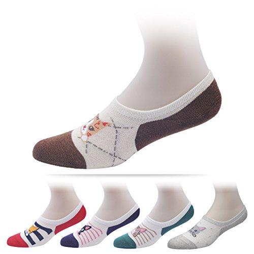 womens-cat-socks-no-show-low-cut-design-socks-5-pairs