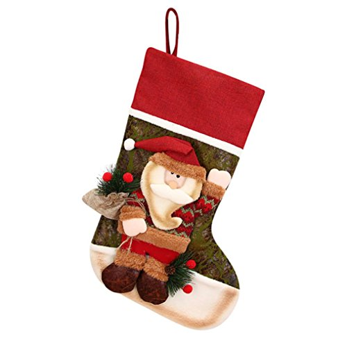 Christmas Gifts, Socks Decorations, Unpara Candy Beads Christmas Santa Claus Snowman Ornament for Holding Christmas Gifts, Festive Decorations, Parties, Holidays (B 1, 23cm X - Sock Beads