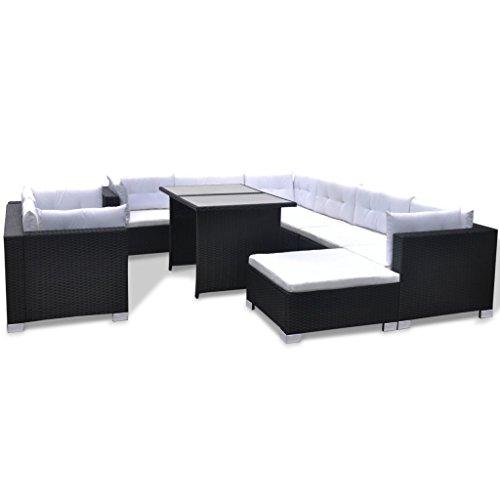 Vidaxl set 28 pz mobili da esterno salone giardino in for Mobili da salone