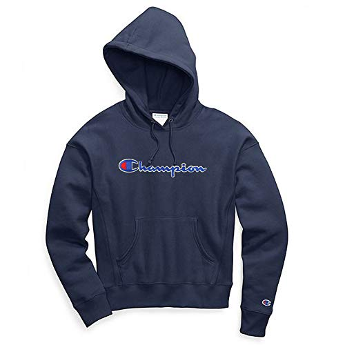 Champion Life Women's Reverse Weave Pullover Hood (Medium, Imperial Indigo/Chainstitch ()