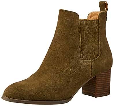 Hush Puppies Women's Tilda Boots, Olive Suede, 5 US